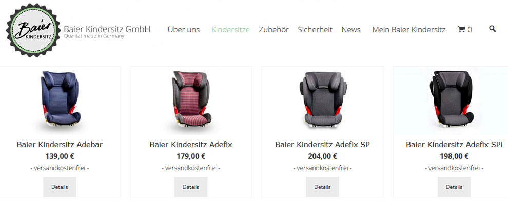 baier Kindersitz Shop by InboundBuzz