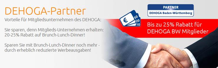 DEHOGA-BW-Partner seit 2014:20-25% RABATT für aktive DEHOGA-BW-Mitglieder!