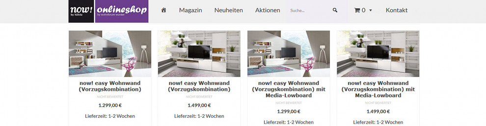 Digitalisierung im Möbelhandel - Möbelhaus-Shop: Hülsta now-onlineshop.de - powered by eduxx.