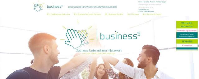 HOMEPAGE_Business High 5 Stuttgart_Mitte - das innovative Unternehmer-Netzwerk mit den 5 Komponenten